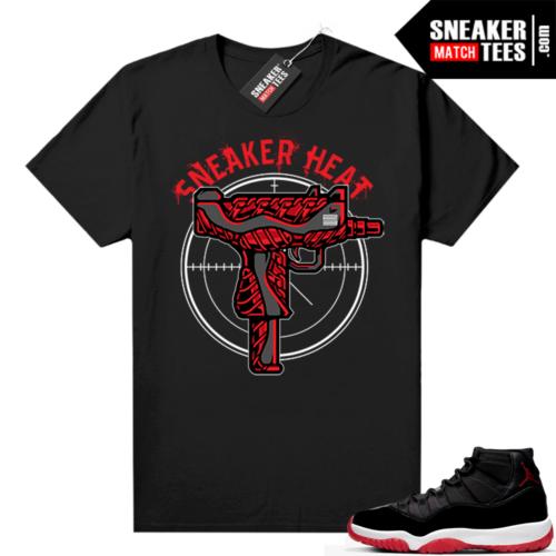 Jordan 11 Bred shirt Black Sneaker Heat