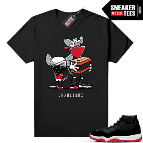 Jordan 11 Bred shirt Black Sneaker Heist