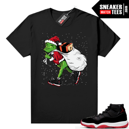 Jordan 11 Bred shirt Black Sneakerhead Grinch