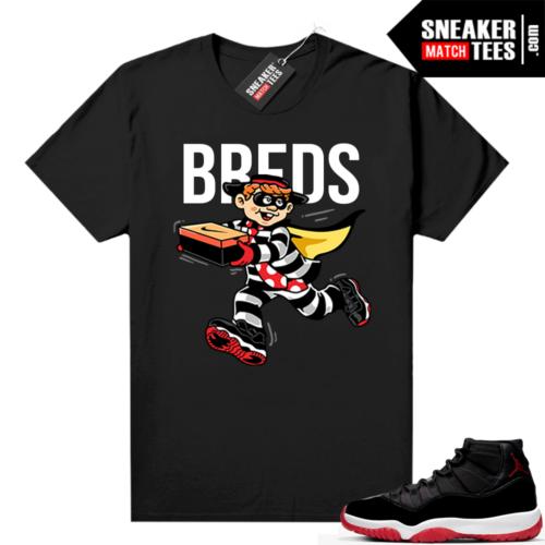 Jordan 11 Bred shirt Breds Heist