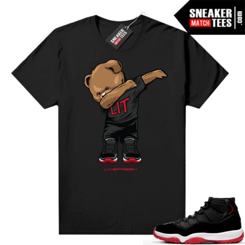 Jordan 11 Bred shirt Dabbin Bear