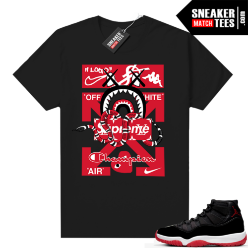 Jordan 11 Bred shirt Designer Mashup