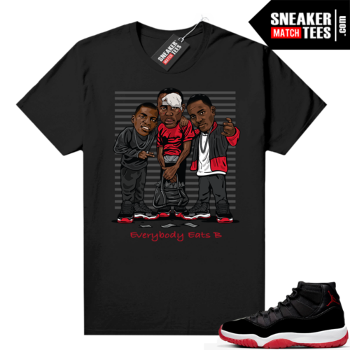 Jordan 11 Bred shirt Everybody Eats B