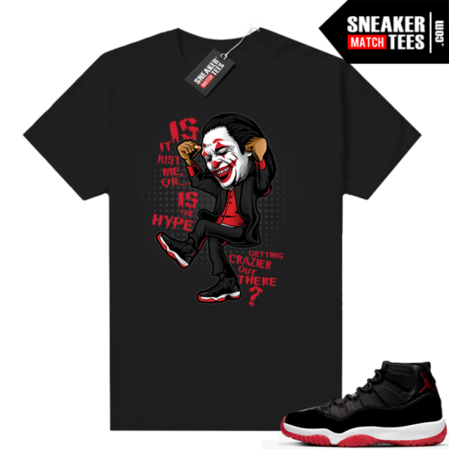 Jordan 11 Bred shirt Joker Crazy Hype