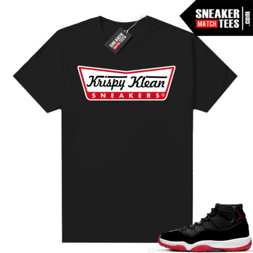Jordan 11 Bred shirt Krispy Klean Sneakers