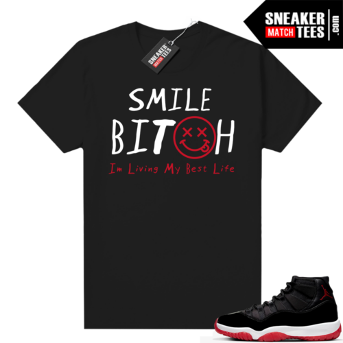 Jordan 11 Bred shirt Living My Best Life
