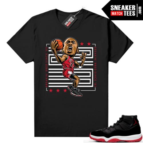 Jordan 11 Bred shirt MJ Breakin Bred