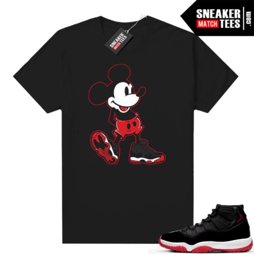 Jordan 11 Bred shirt Mickey