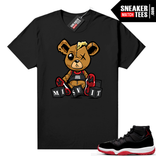 Jordan 11 Bred shirt Misfit Teddy
