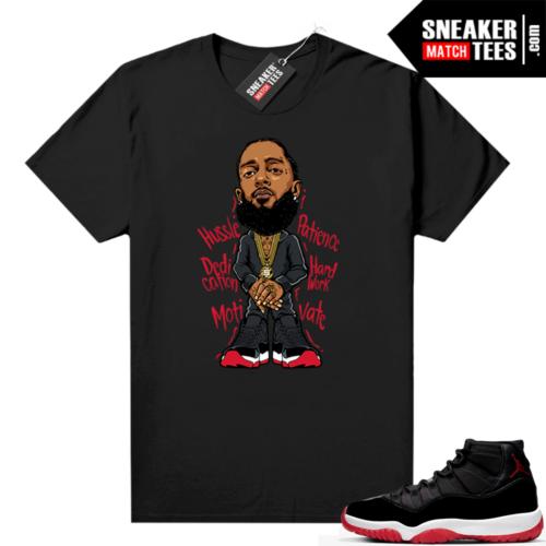 Jordan 11 Bred shirt Nipsey Hussle