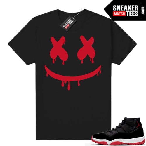 Jordan 11 Bred shirt Smiley Drip