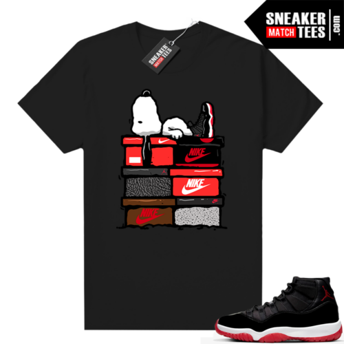 Jordan 11 Bred shirt Sneakerhead Snoopy