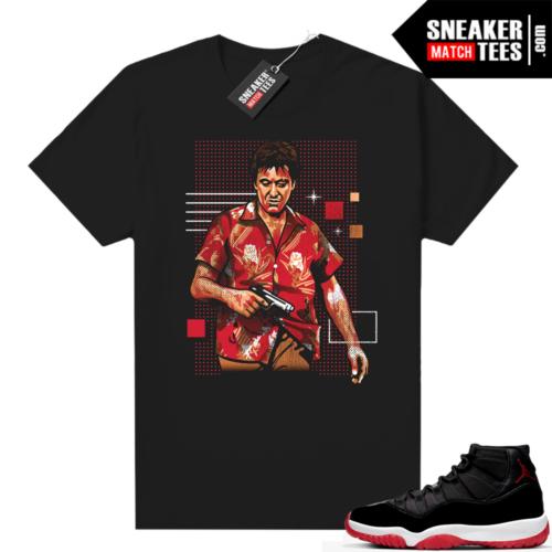 Jordan 11 Bred shirt Tony Montana