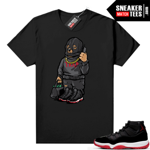 Jordan 11 Bred shirt Trap Bear