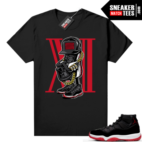 Jordan 11 Bred shirt black Sneakerhead 11