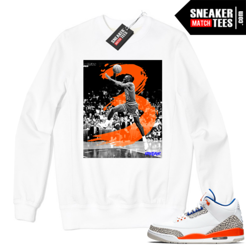 Jordan 3 Knicks Sweatshirt white In The 3s