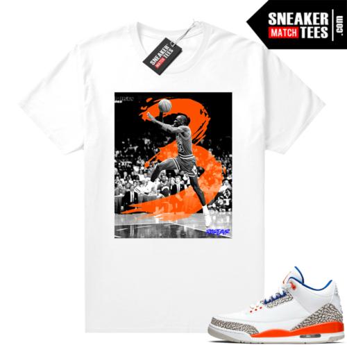 Jordan 3 Knicks shirt white In The 3s