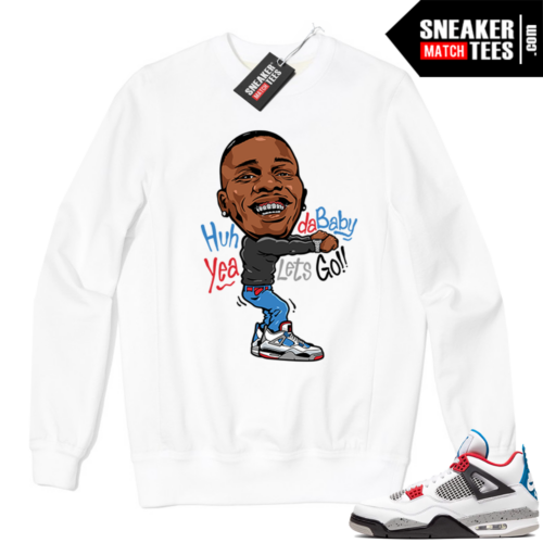 Jordan 4 What the Crewneck Sweatshirt White Dababy Toon