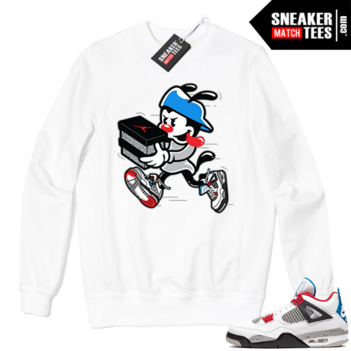 Jordan 4 What the Crewneck Sweatshirt White Double Up