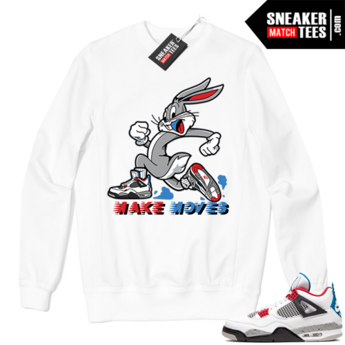 Jordan 4 What the Crewneck Sweatshirt White Make Moves