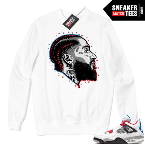 Jordan 4 What the Crewneck Sweatshirt White Prolific
