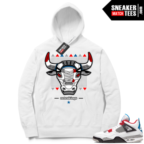 Jordan 4 What the Hoodie Retro Bull