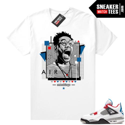 Jordan 4 What the shirt white Buggin WT4 Retro Kings