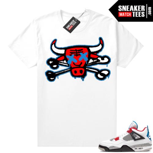 Jordan 4 What the shirt white Bully Bones