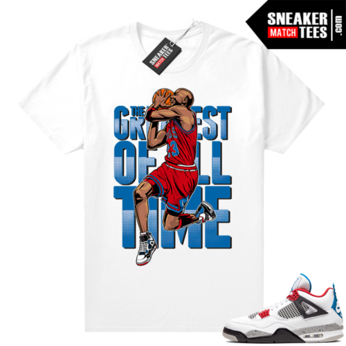 Jordan 4 What the shirt white Greatest
