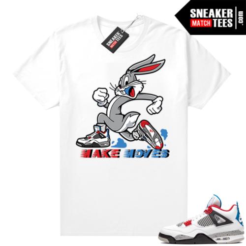 Jordan 4 What the shirt white Make Moves