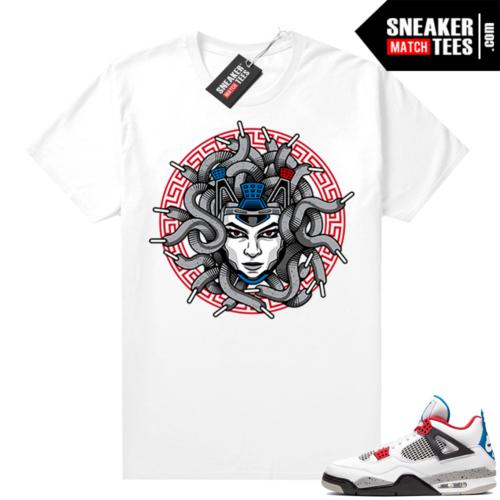 Jordan 4 What the shirt white Medusa