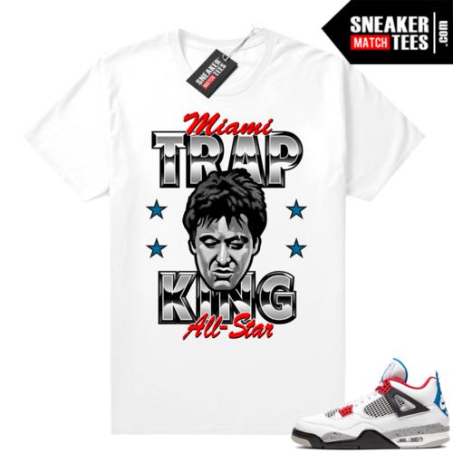 Jordan 4 What the shirt white Miami Trap King