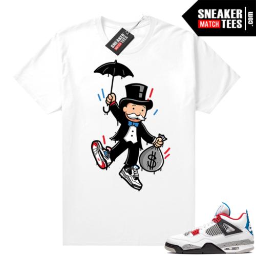 Jordan 4 What the shirt white Monopoly bag