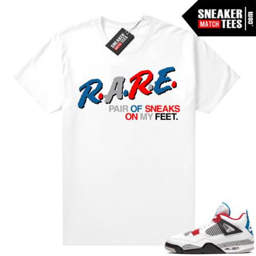 Jordan 4 What the shirt white Rare Pair Retro Kings