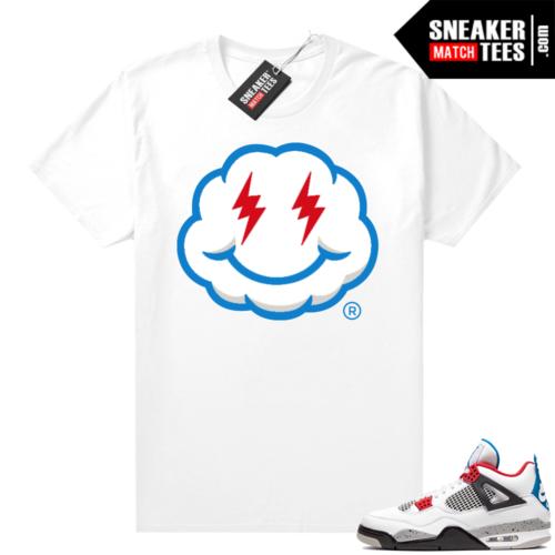 Jordan 4 What the shirt white Smiley Cloud