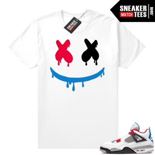Jordan 4 What the shirt white Smiley Drip