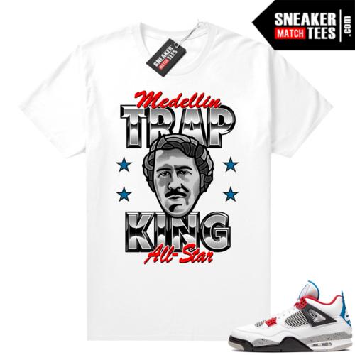 Jordan 4 What the shirt white Trap King