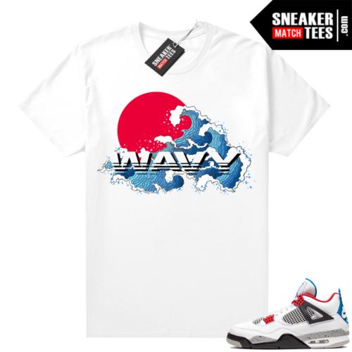 Jordan 4 What the shirt white Wavy