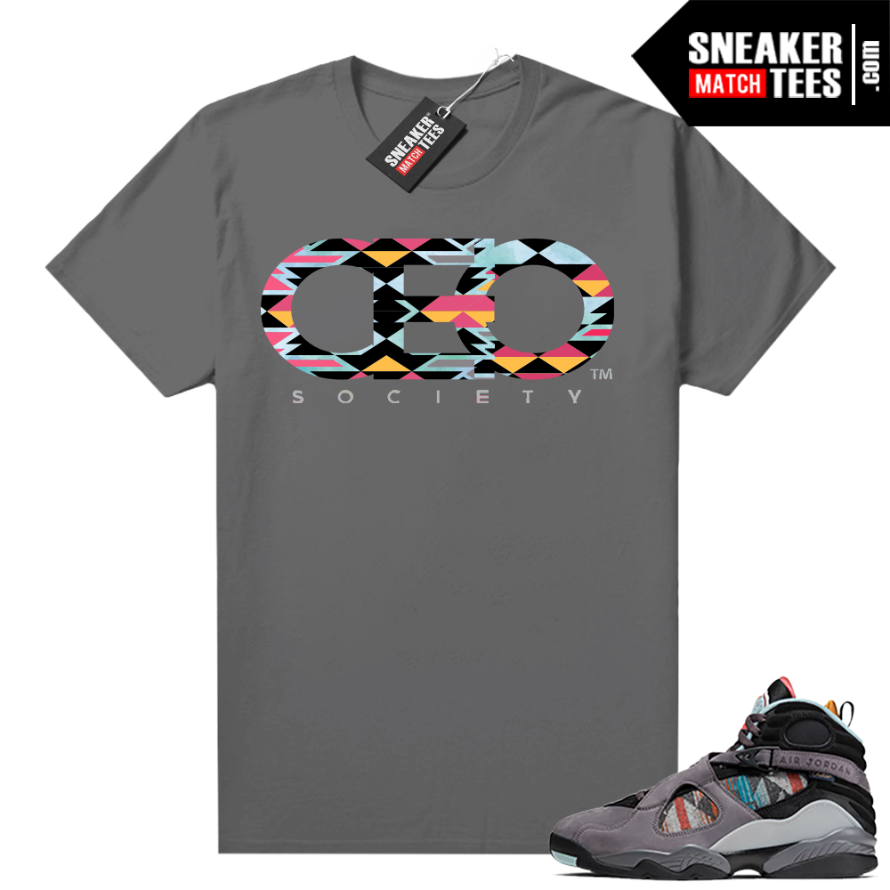 Jordan 8 N7 shirt Grey CEO Society