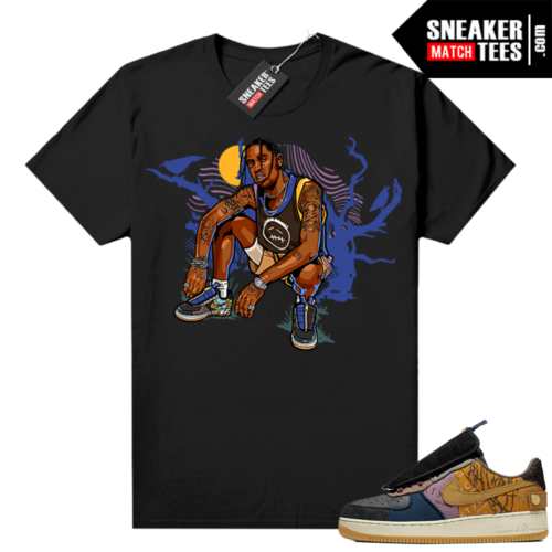 Travis Scott Nike Air Force 1 shirt black Travis Scott