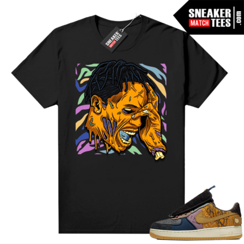 Travis Scott Nike Air Force 1 shirt black Travis Zombie