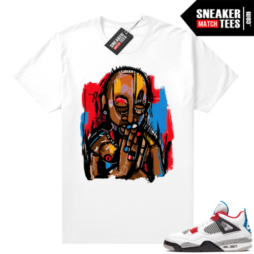 What the 4s matching shirt white Abstract Art 2Pac