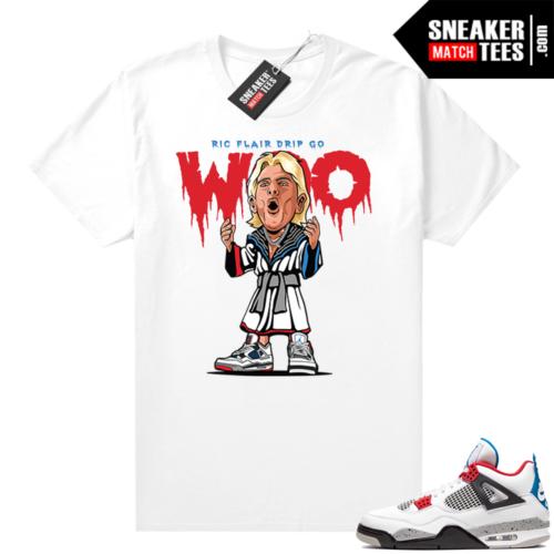 What the 4s shirt White Ric Flair Drip