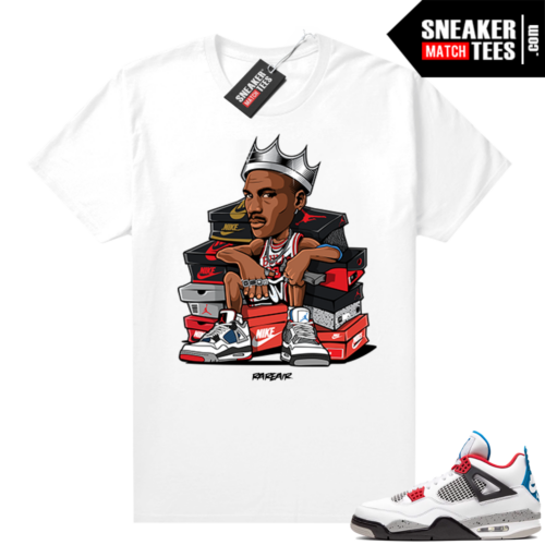 What the 4s shirt White Sneaker King