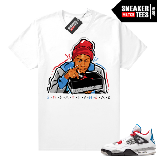 What the 4s shirt White Sneakerhead Chapelle