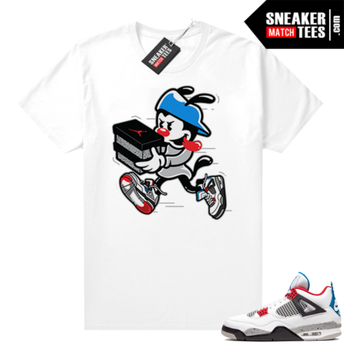 What the 4s shirt white Double Up