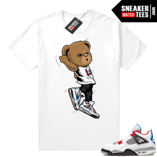 What the 4s shirt white Shootin Bear