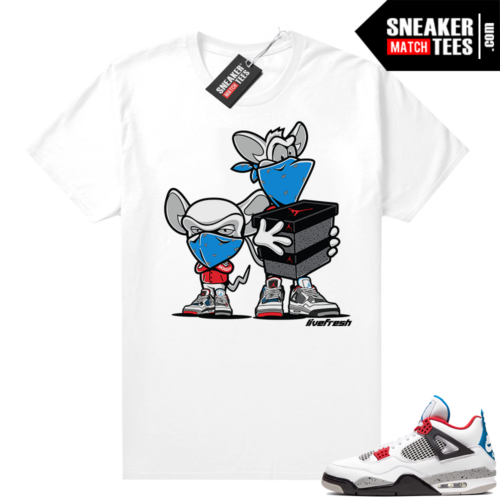 What the 4s shirt white Sneaker Heist
