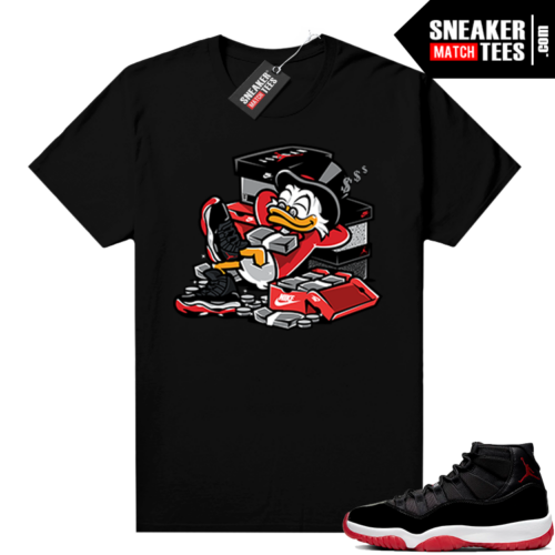 Bred 11 shirt black Bred Up