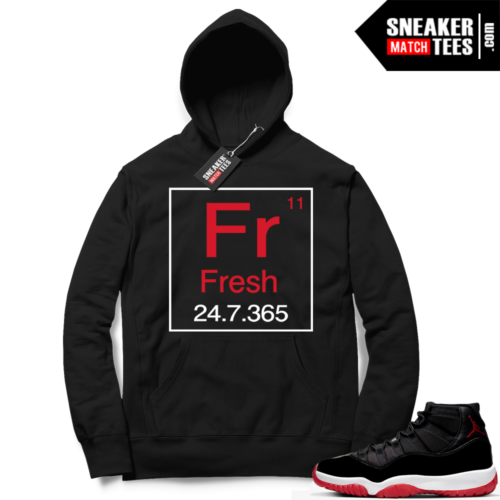 Jordan 11 Bred Hoodies Fresh 11
